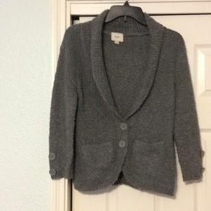 Dark gray boucle sweater